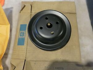 Corvette-Water-Pump-A-I-R-Smog-Pulley-1-Groove-GM-NOS-14023158-1971-1982