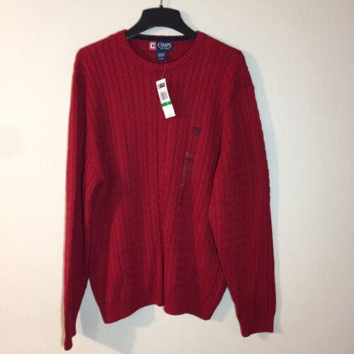 Taglia in Large Girocollo maglione Nice Red 58 lavorato cotone maglia New Chaps a Mens's qTwzg