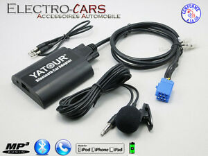 BLUETOOTH-INTERFACE-AUXILIAIRE-MP3-AUTORADIO-COMPATIBLE-PEUGEOT-CLARION-RD3
