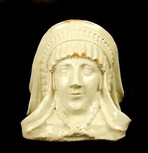 Testa Indiano Elemento Architettura Scultura Francia XIX Th Indian Head H:25 CM