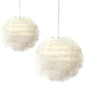 Lampion-Fell-weiss-Lampenschirm-D35-cm-und-D30-cm-Stilvolle-Deckenbeleuchtung
