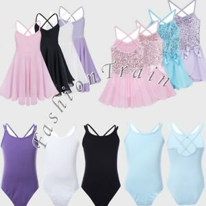 Gymnastics-Girl-Kid-Tutu-Ballet-Leotard-Dance-Dress-Skirts-Performance-Costumes