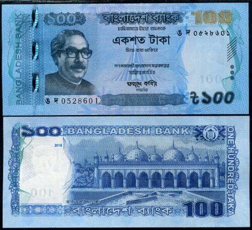 BANGLADESH 100 TAKA 2018//2019 P NEW SECURITY /& SIGN UNC