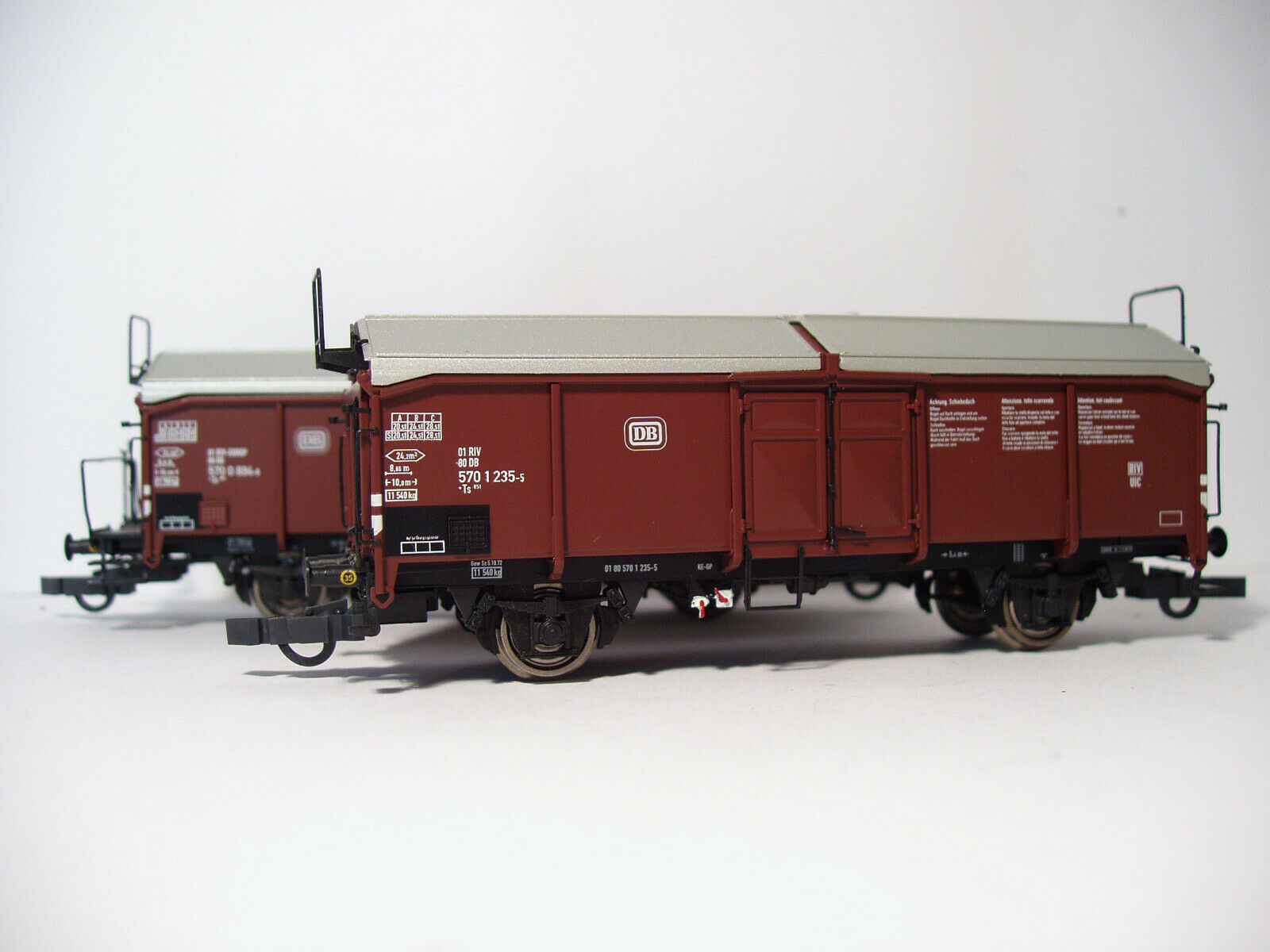 Brawa art. 48610 48611 set 2 Cocheri a sponde alte con copertura serie Ts delle DB