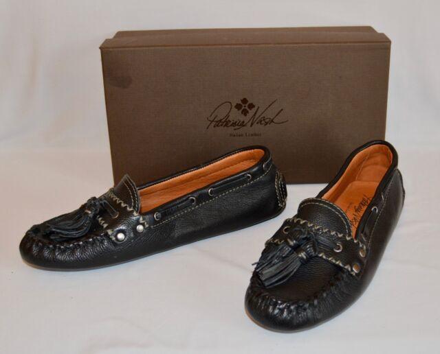 d5bf2004621 Patricia Nash Domenica Tasseled Flat Loafers Black Sz 6 M MSRP  149 A0004