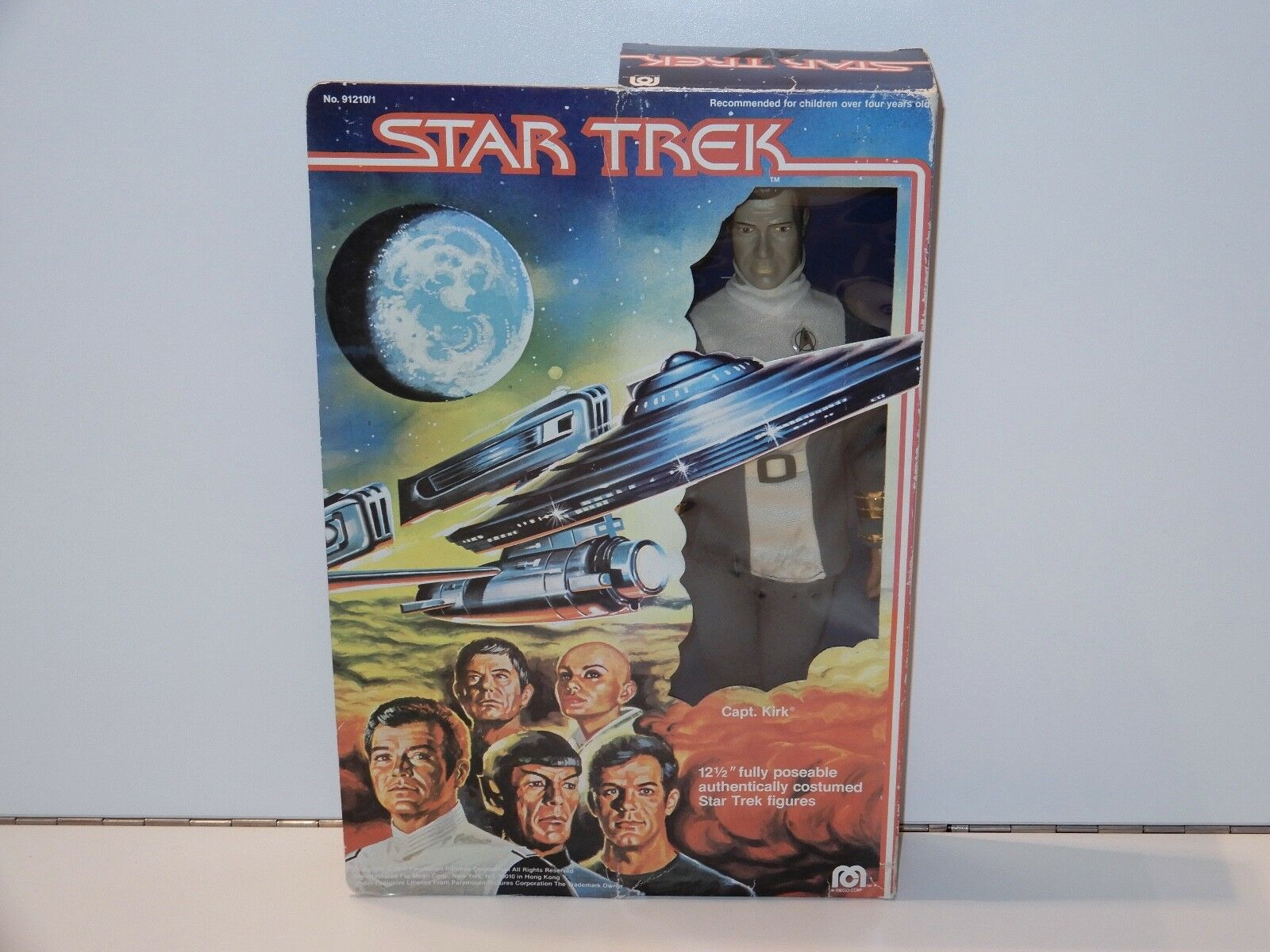 STAR TREK 12  CAPTAIN KIRK ACTION DOLL MIB 1979 MEGO - WILLIAM SHATNER