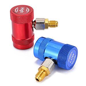 2x R134A Hochdruck Niederdruck Kupplung KFZ Klimaanlage Schnellkupplung  Adapter