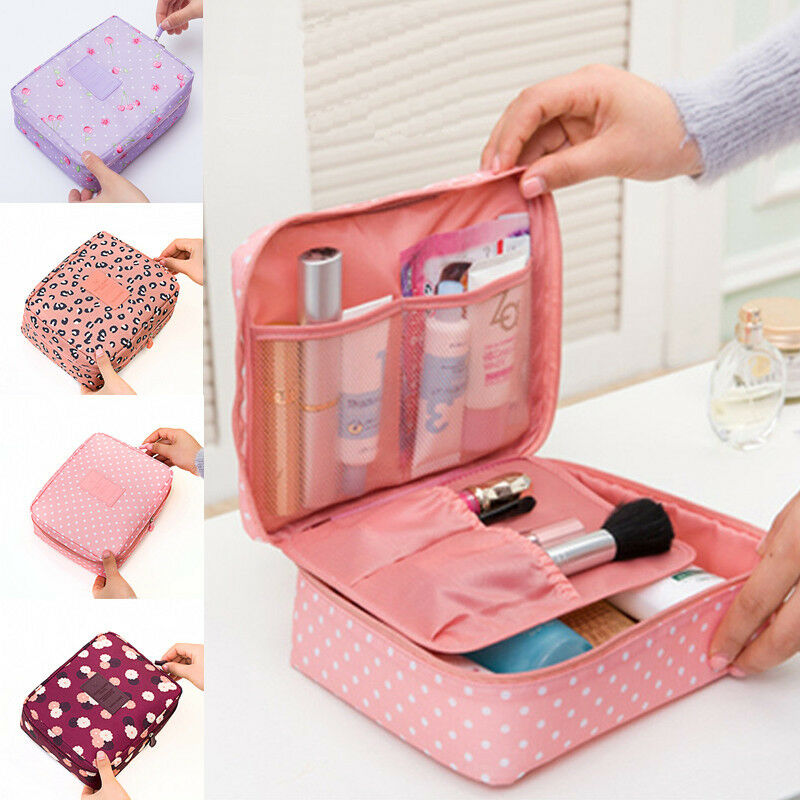Portable Travel Makeup Toiletry Case Pouch Flower Organizer Cosmetic B... - s l1600