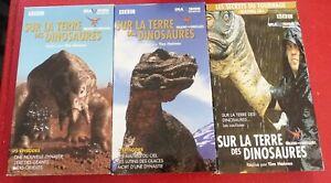 RARE-3-VHS-Movies-Box-Sur-la-Terre-des-Dinosaures-Version-Francaise