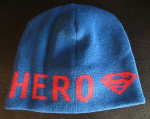 f710ff819df NWT Gap Kids Junk Food Superman Hero Beanie Hat Blue   Red Fleece ...