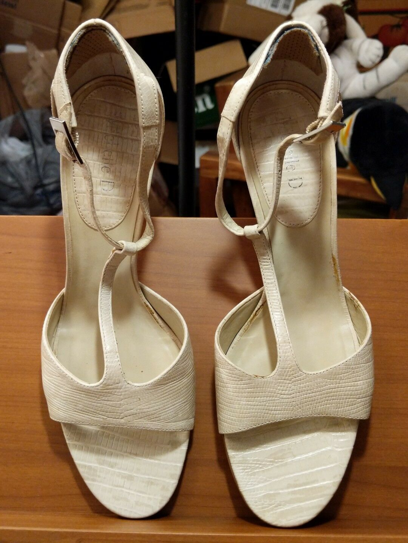 Michelle Toe D Ivory Women's Open Toe Michelle High Heel Dress Shoes Size 8M (3