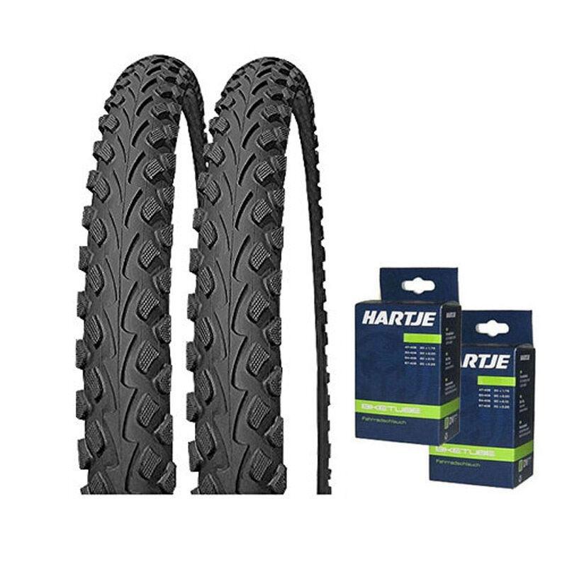 2 2 2 x Impac Tourpac 26x1.75 oder 26x2.00 Fahrrad Mittelsteg Reifen + Schläuche 26   | Perfekte Verarbeitung  5053ef