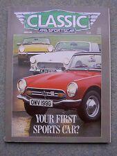 Classic & Sportscar (March 1988) Jensen 541,CV8, Ferrari T3,Spitfire, Honda S800