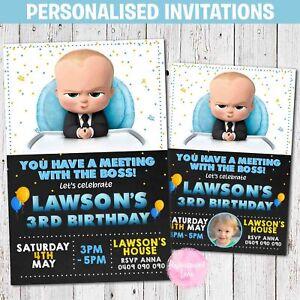'YOU PRINT' Personalised BOSS BABY Birthday Invitation Invite Digital Photo