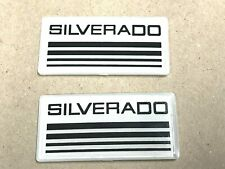 2x Silverado Cab Emblem Badge Side Roof Pillar Decal Plate For Checy Tahoe White