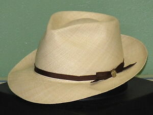 7440d412b733b Image is loading STETSON-FORTY-EIGHT-GENUINE-PANAMA-FEDORA-HAT