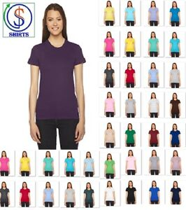 eb7bdc66 American Apparel 2102W Women's Top Fine Jersey Tee 100% Cotton T ...
