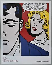 Roy Lichtenstein Forget it! Forget me! litho poster print 1962/2004 made in USA