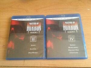 Masters of Horror Blu-ray Season 1 Volume 2 & 4 on Blu-ray