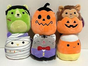 "Set of 6 Squishmallows Official 2021 Halloween Squad 5"" Mini Plush Dolls"