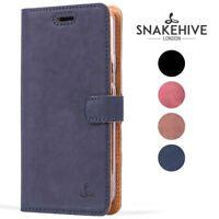 Snakehive® Google Pixel Vintage Leather Folio Wallet Phone Case w/Card Slots
