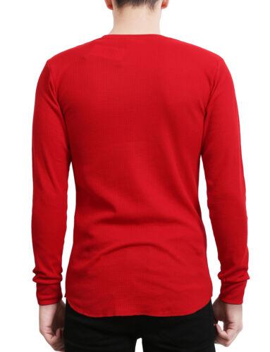 NE PEOPLE Mens Light Weight Long Sleeve Round Neck Thermal Basic T Shirt NEMT42