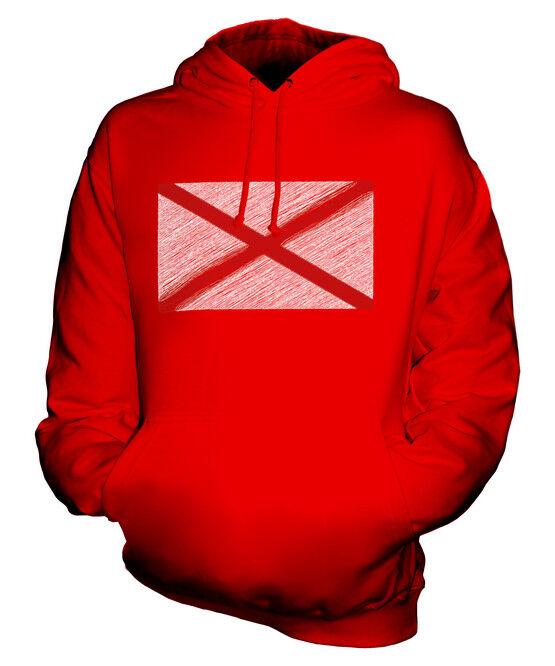 ALABAMA STATE SCRIBBLE FLAG UNISEX HOODIE TOP GIFT ALABAMIAN ALABAMAN