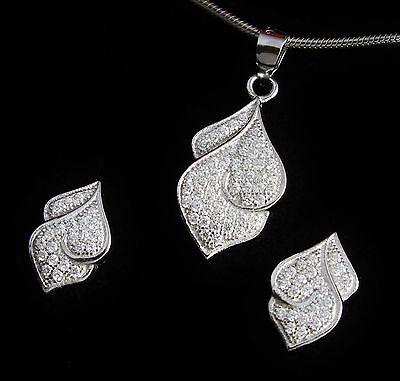 pendientes incl remolque estuche joyas 925 plata schmuckset con circonita