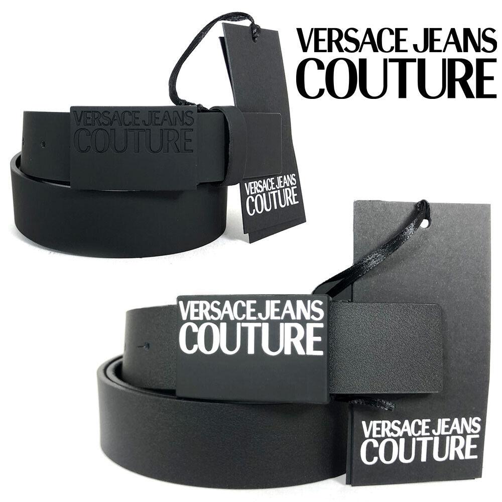 Gürtel Versace Herren Leder Schwarz Jeans Couture Elegant Eff