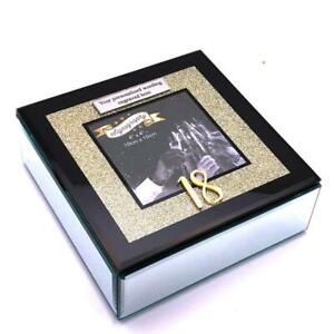 Details About Personalised Large 18th Birthday Gift Black Gold Trinket Jewellery Box 15002 P