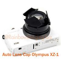 Black Protective Auto Self-retaining Lens Cap For Olympus Xz-1 Xz-2