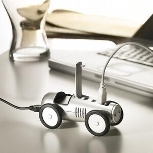 USB-HUB-Rennwagen-Auto-Design-Silberpfeil-4-PORT-USB-2-0-fuer-Notebook-amp-PC