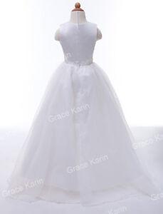 2~12yr Flower Girl Princess Dress Communion Party Wedding Pageant Formal Dresses