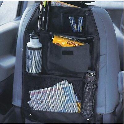 2 x BACK SEAT CAR VAN SEAT CHILDRENS ORGANISER TIDY MULTI-POCKET STORAGE TRAVEL
