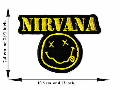 Nirvana Music Rock Band Song Smile Spirit Logo Applique Iron on Patch Sew