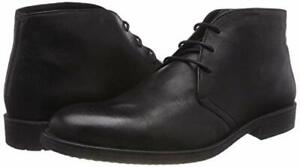 Chaussures cuir GEOX U Jaylon B Bottes Noir Chukka Homme - Taille 41 41.5 NEUF