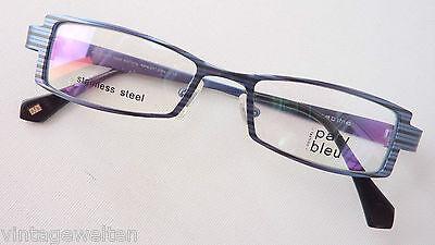 Competente Par Bleu Marchi Telaio Versione Scuri Occhiali Da Uomo Design Strisce Misura M-mostra Il Titolo Originale