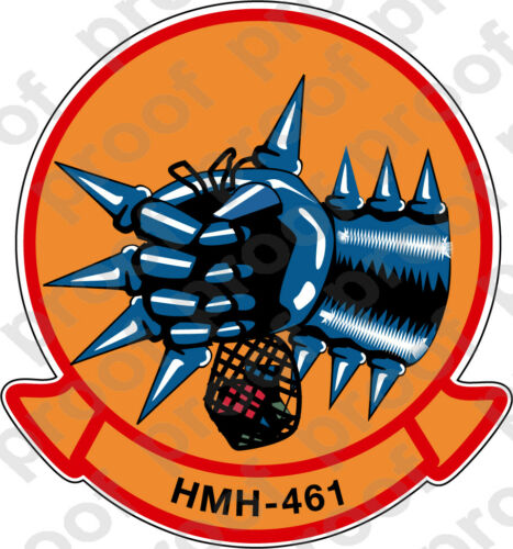 STICKER USMC HMH 461 IRON HORSE A   ooo   USMC Lisc No 19172
