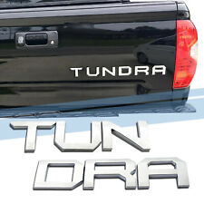 Chrome Tailgate Letters for Toyota Tundra 2014-2019 ABS Plastic Insert