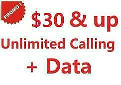 Promotion! R...Mobile Cell Phone Plan Unlimited Canada-wide Calling plus data,  $30 & up Canada Preview