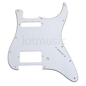 Guitar-Pickguard-for-Fender-Stratocaster-Strat-HS-Single-Humbucker-3-Ply-White