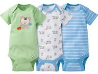 Gerber Baby Boy Onesies Bodysuits Variety 3-pack Baby Shower Gift - Green -