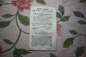 1808 Halle Hebdomadaire 34/mameloukes Chorps à Halle Partie 1-afficher Le Titre D'origine Ventes Bon Marché