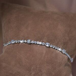 18k-white-gold-gf-made-with-SWAROVSKI-crystal-beaded-chain-slim-tennis-bracelet