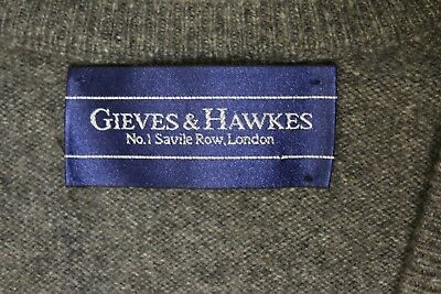 "Gieves & Hawkes, Savile Row 42"" Soft Grey 100% Cashmere Sweater Vest - Scotland!"