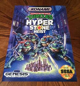 Teenage Mutant Ninja Turtles The Hyperstone Heist Sega Genesis Tmnt Game Poster Ebay