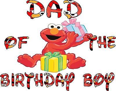 ELMO Birthday Boy Shirt w// little Elmo/'s Number Elmo Birthday Shirt 141