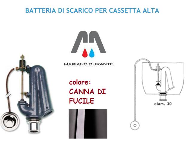 RICAMBI CATIS KIT BATTERIA DI SCARICO PER CASSETTA ALTA CATIS CANNA DI FUCILE
