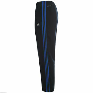 adidas mens essentials 3 stripe climalite poly hooded