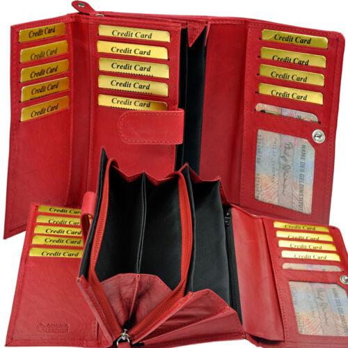 XXL Geldbörse mit RFID-Safe 28 Fächer Geldbeutel Portemonnaie Geldtasche Damen